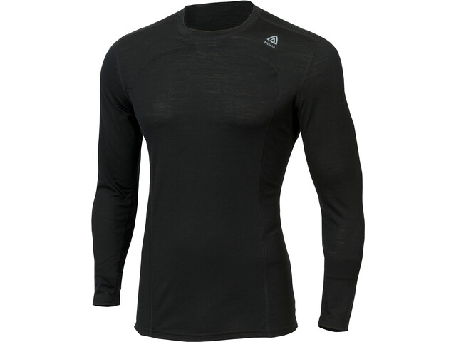 Aclima LightWool Top Cuello Barco Hombre, jet black
